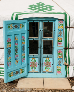 The beautifully decorated door, Mongolian style