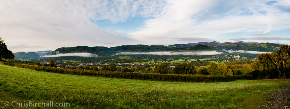 Early morning mist over the valley
