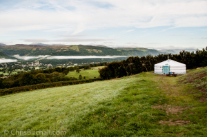 Our Yurt, Rhiannon, with its magnificent view